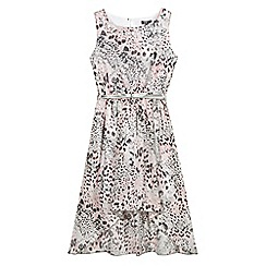 Star by Julien Macdonald - Designer girl's pink animal print belted dress