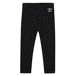 Star by Julien MacDonald - Designer girl's animal flock print leggings