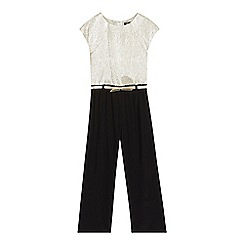 Star by Julien Macdonald - Girls' gold colour block jumpsuit