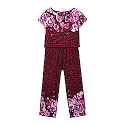 Star by Julien Macdonald - Girls' purple floral top and trousers set