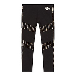Star by Julien Macdonald - Girls' black gold studded leggings