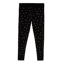Star by Julien Macdonald - Girls' black stud leggings