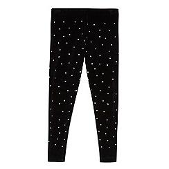 Star by Julien Macdonald - Girls' black stud leggings