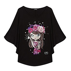 Star by Julien Macdonald - Girls' black girl print cape top