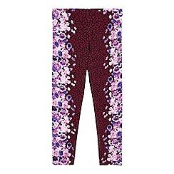 Star by Julien Macdonald - Girls' purple floral border leggings
