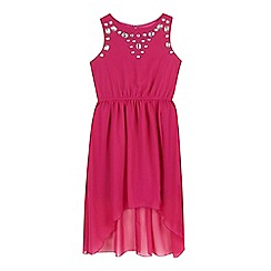 Star by Julien Macdonald - Girls' dark pink gem dress