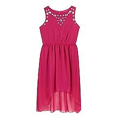 Star by Julien Macdonald - Girls' dark pink gem dress