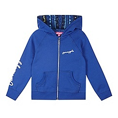 Pineapple - Girl's blue zip through hoody