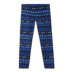 Pineapple - Girl's blue aztec leggings