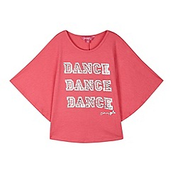 Pineapple - Girl's pink 'Dance Dance Dance' cape top