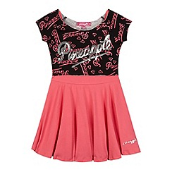 Pineapple - Girl's pink script layered dress