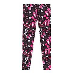 Pineapple - Girl's pink bow shoe star leggings