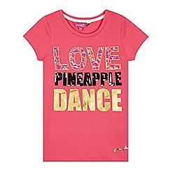 Pineapple - Girl's pink 'Love Pineapple' t-shirt