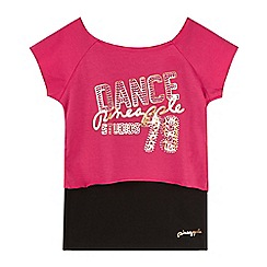 Pineapple - Girls' pink 2-in-1 'Dance' crop top and vest