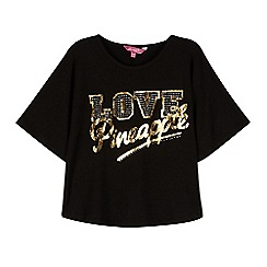 Pineapple - Girls' black 'Love' cape top