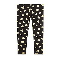 Pineapple - Girls' gold foil heart leggings