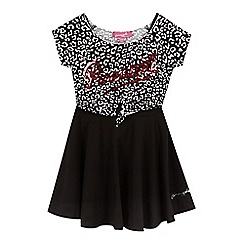 Pineapple - Girls' black animal top and dress set