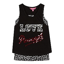 Pineapple - Girls' black 2-in-1 vest top