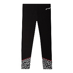 Pineapple - Girls' black sports leggings
