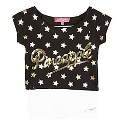 Pineapple - Black sequinned star top