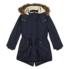 Mantaray - Girl's navy 3-in-1 padded parka