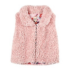 Mantaray - Girl's pink fluffy gilet