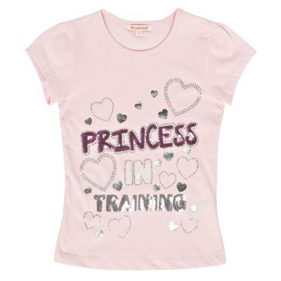 Girls Pink Princess In Training T-shirt