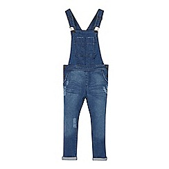 Mantaray - Girl's blue denim dungarees
