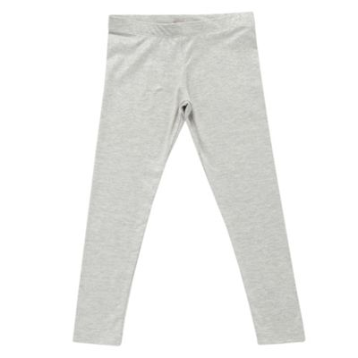 Girls Grey Glitter Leggings