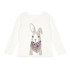 Mantaray - Girl's off white hare graphic top