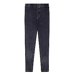 Mantaray - Girl's dark blue washed jeggings