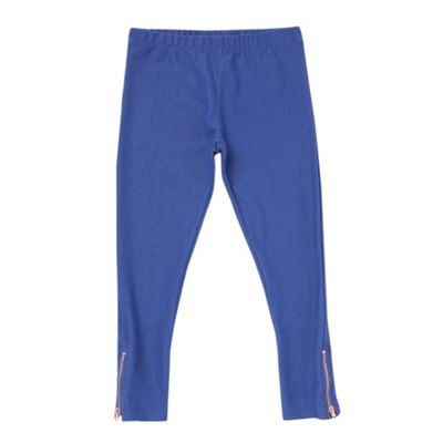 Girls Royal Blue Jersey Leggings