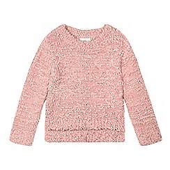 Mantaray - Girls' pink pom pom jumper
