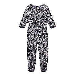 Mantaray - Girls' floral and bird print jumpsuit