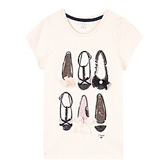 J by Jasper Conran - Designer girl's light pink sequin shoes t-shirt