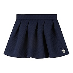 J by Jasper Conran - Designer girl's navy textured jersey skirt