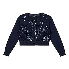J by Jasper Conran - Designer girl's navy sequin cardigan