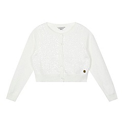 J by Jasper Conran - Designer girl's cream sequin cardigan
