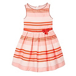 J by Jasper Conran - Designer girl's pink textured stripe prom dress