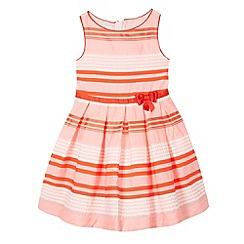 J by Jasper Conran - Designer girl's pink textured stripe prom dress