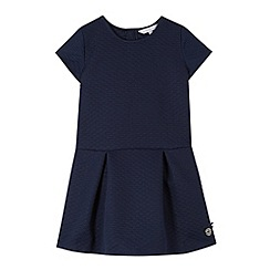 J by Jasper Conran - Designer girl's navy textured drop waist dress