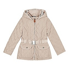 J by Jasper Conran - Designer girl's cream bow quilted belted jacket