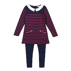 J by Jasper Conran - Girl's navy striped tunic and leggings set