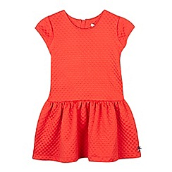 J by Jasper Conran - Girl's red textured jersey dress