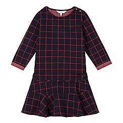J by Jasper Conran - Designer girl's navy checked top and skirt set