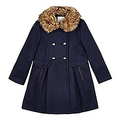J by Jasper Conran - Girls' navy riding coat