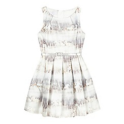 J by Jasper Conran - Girls' light grey photographic horse dress