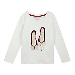 J by Jasper Conran - Girls' white velvet shoes top