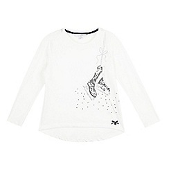 J by Jasper Conran - Girls' cream ice-skates top