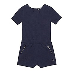 J by Jasper Conran - Girls' navy textured jersey playsuit
